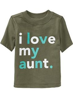 """""""I Love My Aunt"""" Graphic Tees for Baby"""