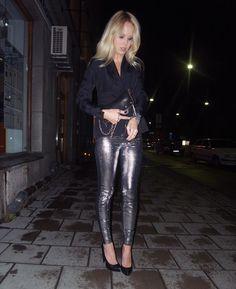 Elin Kling + shiney pants