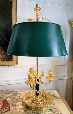 Having three lights with ram's head motif and pierced base. Louis Xvi, Antique Furniture, Table Lamp, Bronze, Lights, French, Antiques, Collection, Home Decor