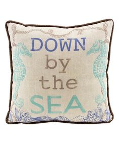 Look at this Tan 'Down By The Sea' Throw Pillow on #zulily today!