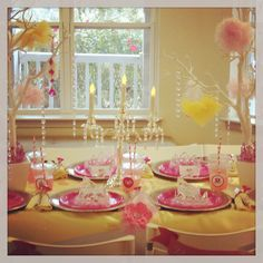 The Royal Princess table set up!