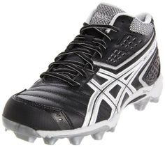 ASICS Men\u0027s GEL-Provost Mid Lacrosse Cleat heel gradient Removable insole  Solyte� Polymer Cleat Plate Synthetic leather and mesh upper