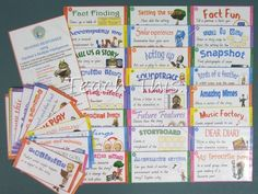 Reading Responses with Multiple Intelligences (48 cards) - Printable Alphabet, Grammar, Writing and Reading Teacher Resources :: Teacher Resources and Classroom Games :: Teach This