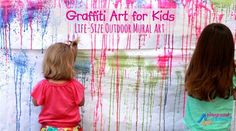 Graffiti Art for Kids - Outdoor Mural Art with Spray Paint