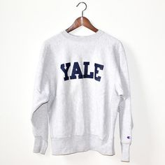 Vintage Yale Crewneck Sweatshirt <3 I Want one of these so bad, but in gray, Too bad my parents dont order offline, and I live no where near where i can get one... :(