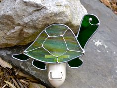 Tommy the Turtle Stained Glass Nightlight by dortdesigns on Etsy, $16.00
