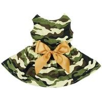 Wish | Fashion Army Green Camouflage Pet Dog Dress Clothes Camo Shirts Vest Comfy Apparel