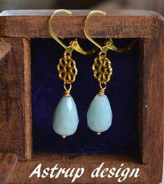 Beautiful blue Amazonite facet bead earrings from Lisa Astrup Art & craft by DaWanda.com