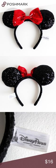 ❤️Minnie Mouse Ears❤️ Authentic Sequin Minnie Mouse ears from Disneyworld! ✨✨✨ Disney Accessories Hair Accessories