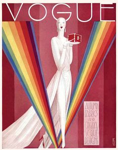 Glamorous: Vogue was at the forefront of fashion, even in the 1930s as this cover illustrates