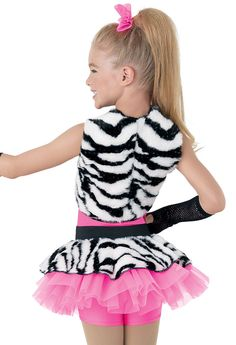 Weissman™   Tiger Fur Vest & Skirt Dress