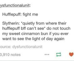 And that's how it works... Hogwarts Alumni, Hogwarts Houses, Slytherin And Hufflepuff, Slytherin House, Harry Potter Memes, Harry Potter Universal, Fangirl, Fandoms, Sad Life