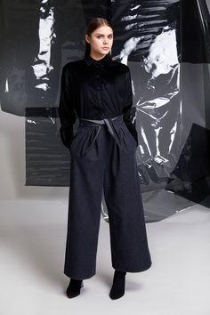 Photographer: Paavo Lehtonen MUAH: Piia Hiltunen Stylist: Shadi Razavi Model: Christina Shevelkova Red Moon, Light And Shadow, Collar Shirts, That Look, Trousers, Normcore, Feminine, Collection, Style