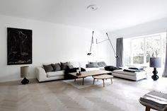 Danish Home / Nordic Minimalistic Style / Københavns Møbelsnedkeri Table /  Flos 265 Lamp
