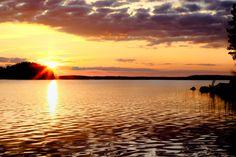 """500px / Photo """"Sunset Lake"""" by Arttu Ulkuniemi"""
