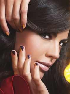 Purple + Gold Nails