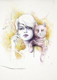 OPIO EN LAS NUBES by THEMADFACTORY estudio , via Behance Pink, Digital Art, Character Design, Illustration Art, Drawings, Books, Behance, Wallpapers, Painting