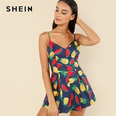 f50b425198 Jumpsuits + Rompers. Bohemian FabricBohemian BeachBohoPrint BoxFruit PrintSummer  RomperOotd FashionBoutique ClothingJumpsuits For Women