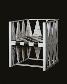 Koloman Moser and Josef Hoffmann, armchair, wood and caning, made by the Wiener Werkstätte Koloman Moser, Pop Design, Deco Design, Modern Design, Plywood Furniture, Chair Design, Furniture Design, Modern Furniture, Architecture Art Nouveau