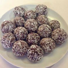 Chewy Chocolate, Orange and Coconut Truffles