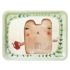 """Dienblad """"Tea Bear""""....the tea service would likely arrive on this tray....the queen's a fan you know"""