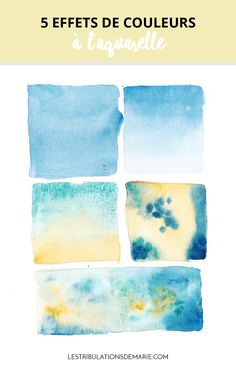 Learn how to create a colored background in watercolor: multiple possible uses!
