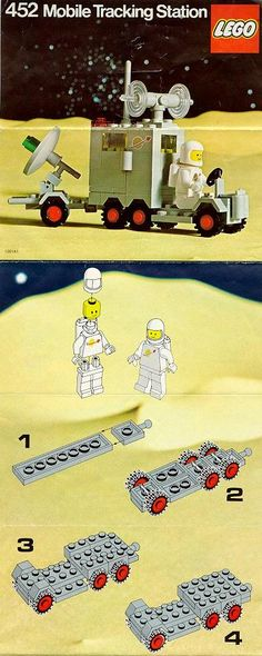 LEGO Mobile Tracking Station Instructions 452, Space / CL 8-2014