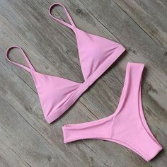 Sexy Push Up Bikini Halter Hollow Out Swimwear Women Swimsuit Solid Biquinis Bea. - - Sexy Push Up Bikini Halter Hollow Out Swimwear Women Swimsuit Solid Biquinis Beachwear Female Bathing Suit Sunbath – M Source by Fqyshop Push Up Bikini, Brasilianischer Bikini, Strap Bikini, Bikini Beach, Hot Pink Bikini, Bandeau Swimsuit, Pink Swimsuit, Retro Bathing Suits, Summer Bathing Suits