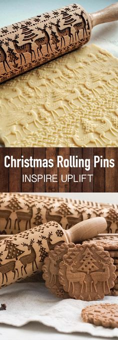 Christmas Rolling Pin - ★★★★★ Finally, an easy way to prepare the most beautiful and original Christmas cookies in just minutes! This unique, Christmas Rolling Pin would make a perfect Christmas gift for your wife, mother, friends (women or men) Diy Xmas, Christmas Gift For You, Perfect Christmas Gifts, Christmas Goodies, Christmas Desserts, Christmas Treats, Holiday Treats, All Things Christmas, Holiday Recipes