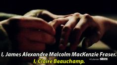 """fponthedl: """" """"I, James Alexander Malcolm MacKenzie Fraser."""" Preview of 1x07 - The Wedding x """""""