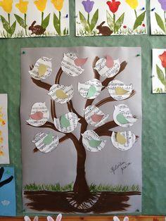 strom s ptáčky z notového papíru