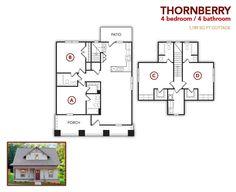 4 bedroom, 4 bath Thornberry