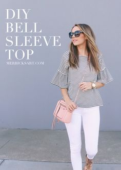 Merrick's Art // Style + Sewing for the Everyday Girl: DIY FRIDAY: BELL SLEEVE TOP TUTORIAL