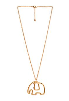 Minimalist Elephant Pendant Necklace | FOREVER21 #Accessories #Necklace #MustHave
