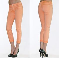 (4) Womens Faith Crop Colored Jeans in Mango - Articles of Society 2013 Spring Summer Womens Denim Picks - Trend Watch - Interesting News, Fashion Forecasts, Color Reports, Fresh New Jeans, Hot Denim Styles, Spotted at the Clothing Rack and Upcoming Trends