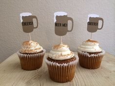 12 Beer Mug Cupcake Topper Food Pick Topper by TheTinyToppery on Etsy https://www.etsy.com/listing/112072605/12-beer-mug-cupcake-topper-food-pick