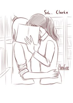 """artyevie: """"Clexa making out in the library… ;) """""""