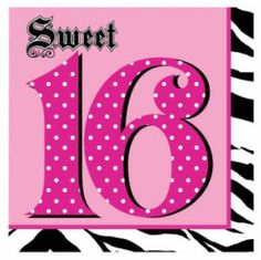 Super Stylish Sweet 16 3-Ply Lunch Napkins