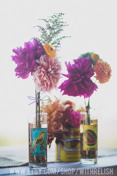 Mexican Loteria Vases Wedding by Sweetbricks