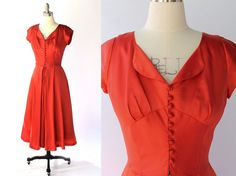 1950s Doris Dodson Red Party Dress // 50s Vintage by COCOVINTAGES