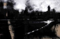 "John Virtue/British Painter/Part of His ""London"" series of work completed during his residency at the National Gallery."