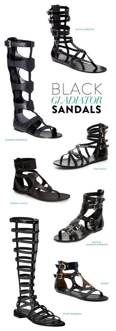 black gladiator sandals - spring fashion - summer fashion -