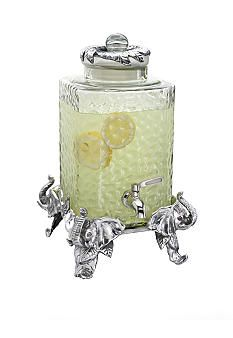 Arthur Court Designs Elephant Beverage Server 103424 This unique server is perfect for fine liquor, wine, water or any other beverage. An intricately detailed elephant on each corner serves as the base. Elephant Gun, Elephant Head, Elephant Love, Elephant Stuff, Elephant Jewelry, Baby Elephants, Animal Jewelry, Elephant Gifts, Elephant Home Decor