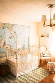 a large picture of the world is what i will have in my library or my baby room