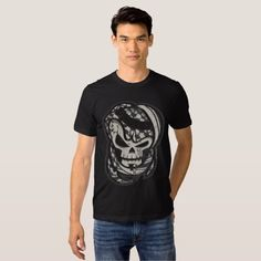 Shop Arabian Skull GRAY T-Shirt created by Spysee. American Apparel, Shirt Style, Fitness Models, Your Style, Shirt Designs, Tee Shirts, Skull, Grey, Mens Tops