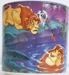 Disney Lion King Reflection Simba and Rafiki Coffee Mug Cup Purple Interior | eBay