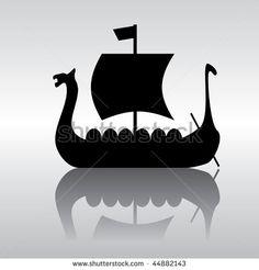 viking ship logo black background - Google Search