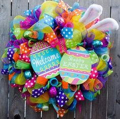 Easter Mesh wreath- so cute!