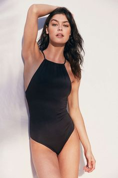 Urban OUtfitters > Out From Under High Neck Solid One-Piece Swimsuit