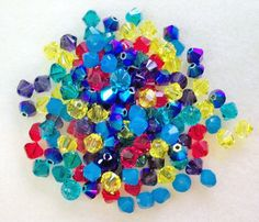 Swarovski Crystal Xillion Bicones Bicone Beads 144 pcs 1 gross Assorted Cotton Candy Mix by Gstrands on Etsy Blue Zircon, Blue Opal, Swarovski Crystal Beads, Purple Velvet, The Flash, Jewelry Supplies, Cotton Candy, How To Make, Etsy
